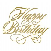 Couture Creations Hot Foil Stamp - Happy Birthday - CO725288